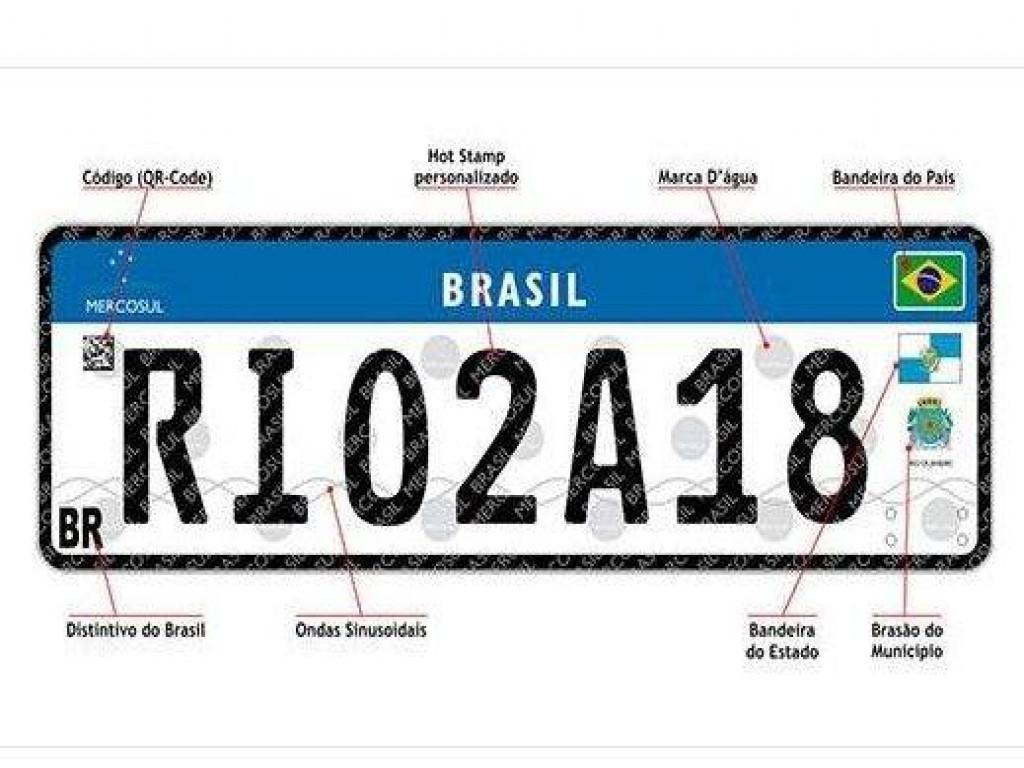 New Car Veículos - Novo padrão de placas